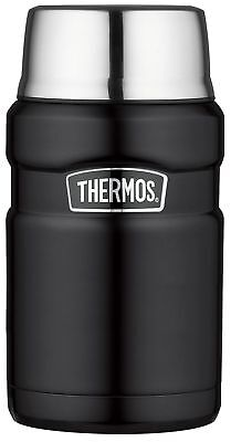 Thermos Stainless King Food Flask, Matt Black, 710 ml