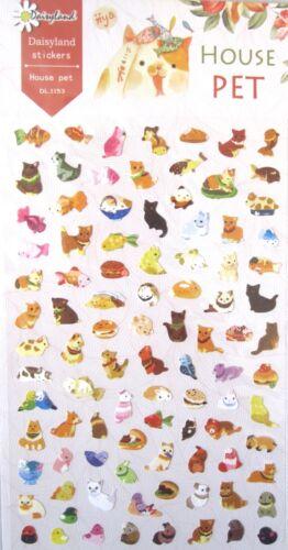 Daisyland House Pet Scrapbooking Sticker Sheet ~ KAWAII!!