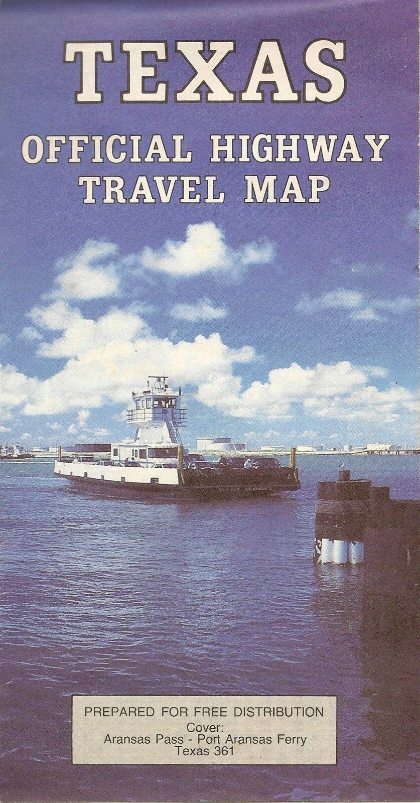 1990 Texas Official State Highway Road Map Code 039002