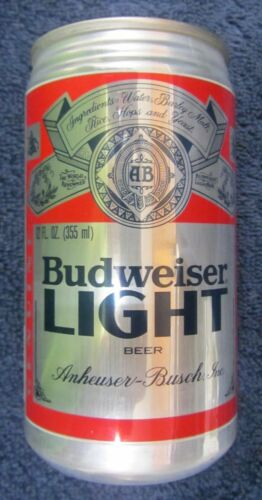 Vintage 1981 BUDWEISER LIGHT BEER CAN Distributor Only FLAT TOP before BUD LIGHT