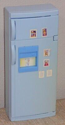 Barbie 2000's Mattel Doll House Furniture_Kitchen Blue Refrigerator_White Shelf