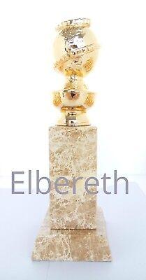 Golden Globe statue 1:1 2 days DHL trophy award oscar Emmy Real Marble base !