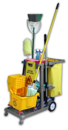 Janitor Cart - Gray