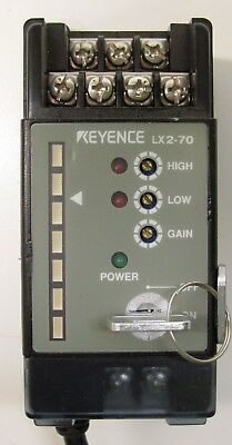 Keyence Lx2-70 Laser Thrubeam Sensor Amplifier Unit