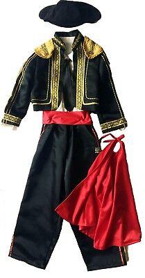 Halloween, Costume,Bull Fighter, Boy's Size 7/8, Hand-mad-made in USA (6 pieces) - Bullfighter Halloween Costume