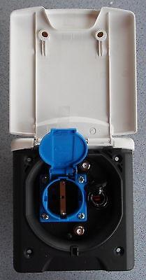Vorzelt Entnahme Außen Steckdose 12/230 V SAT TV weiß Magnetdeckel 22909b NEU
