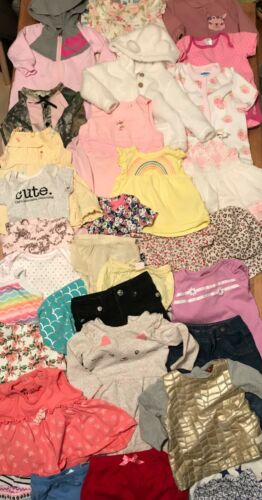 3 6 Months Baby Girl Clothing Lot Jacket Jumpsuits Bodysuits Tops Bottoms Shorts