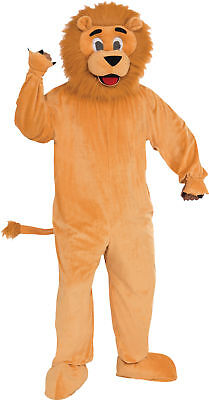 Lion Mascot Adult Mens Costume Plush Animal Safari Halloween