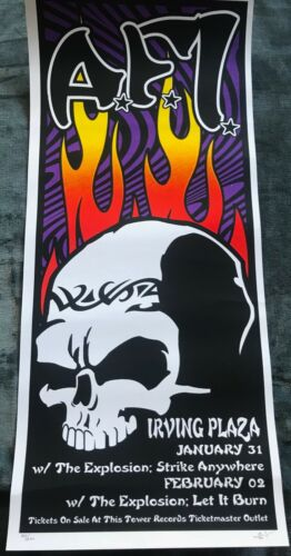 A.F.I. A FIRE INSIDE 2003 @ IRVING PLAZA New York signed #d CONCERT POSTER 11X25