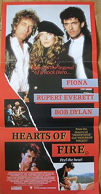 Bob Dylan Hearts of Fire Australian Movie Poster Fiona Rupert Everett
