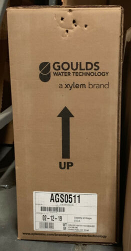 XYLEM GOULDS SUBMERSIBLE GRINDER PUMP MODEL AGS0511 0.5 HP  LIBERTY PUMP PRG100