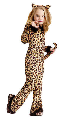 Pretty Leopard Child Girls Costume Cat Print Jumpsuit Halloween Funworld Toddler - Pretty Leopard Child Costume
