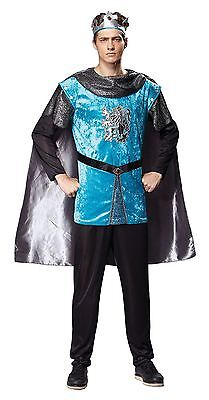 Royal Knight, Medieval Prince, King Arthur, Knights Mens Fancy Dress Costume