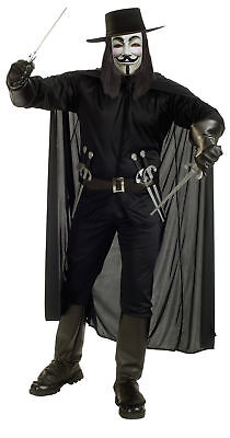 V for Vendetta Adult Mens Costume Rubies Cosplay Black Party Halloween - Halloween Costumes For Black Man