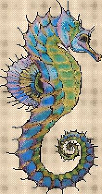 Colorful Seahorse Counted Cross Stitch Chart No. 2-392/51