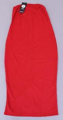 Boohoo Women's Plus Jacki Bandeau Bodycon Midi Dress BF5 Red Size US:12 UK:16
