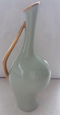 """Rosenthal Vase """"Schwangere Luise"""", F. Heidenreich 50'er Jahre - Seladongrün"""