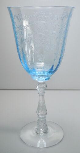 Fostoria Navarre Blue Water Goblet Claret Wine Your Choice