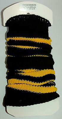 FLIRT Ladies Girls Bumble Bee Leg Warmers by Flirt Deluxe C035.T  - Bee Leg Warmers