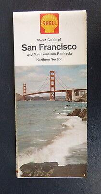 1963 San Francisco & North Peninsula street map Shell oil  gas  Woodside