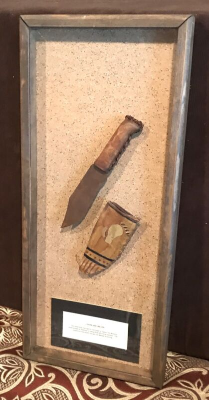 Vintage Antique Early Native Americans Female Squaw SkinningKnife Sheath Weapon