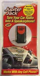 Jupiter Jack Cell Phone/Car Speakerphone Converter - NIB - w/ 6 Adapters