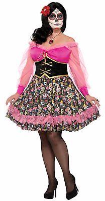 Plus Size Senorita Halloween Costumes (Women's Day Of The Dead Senorita Costume Fancy Dress Spanish Mexican Plus)