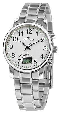 Atrium Uhr, Funkuhr, Herrenuhr, Edelstahl, A25-30, NEU online kaufen
