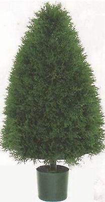 """ARTIFICIAL 3.5 ft CONE OUTDOOR CYPRESS 42"""" TOPIARY TREE UV CEDAR PINE POOL PATIO"""