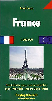 Map of France, by Freytag & Berndt