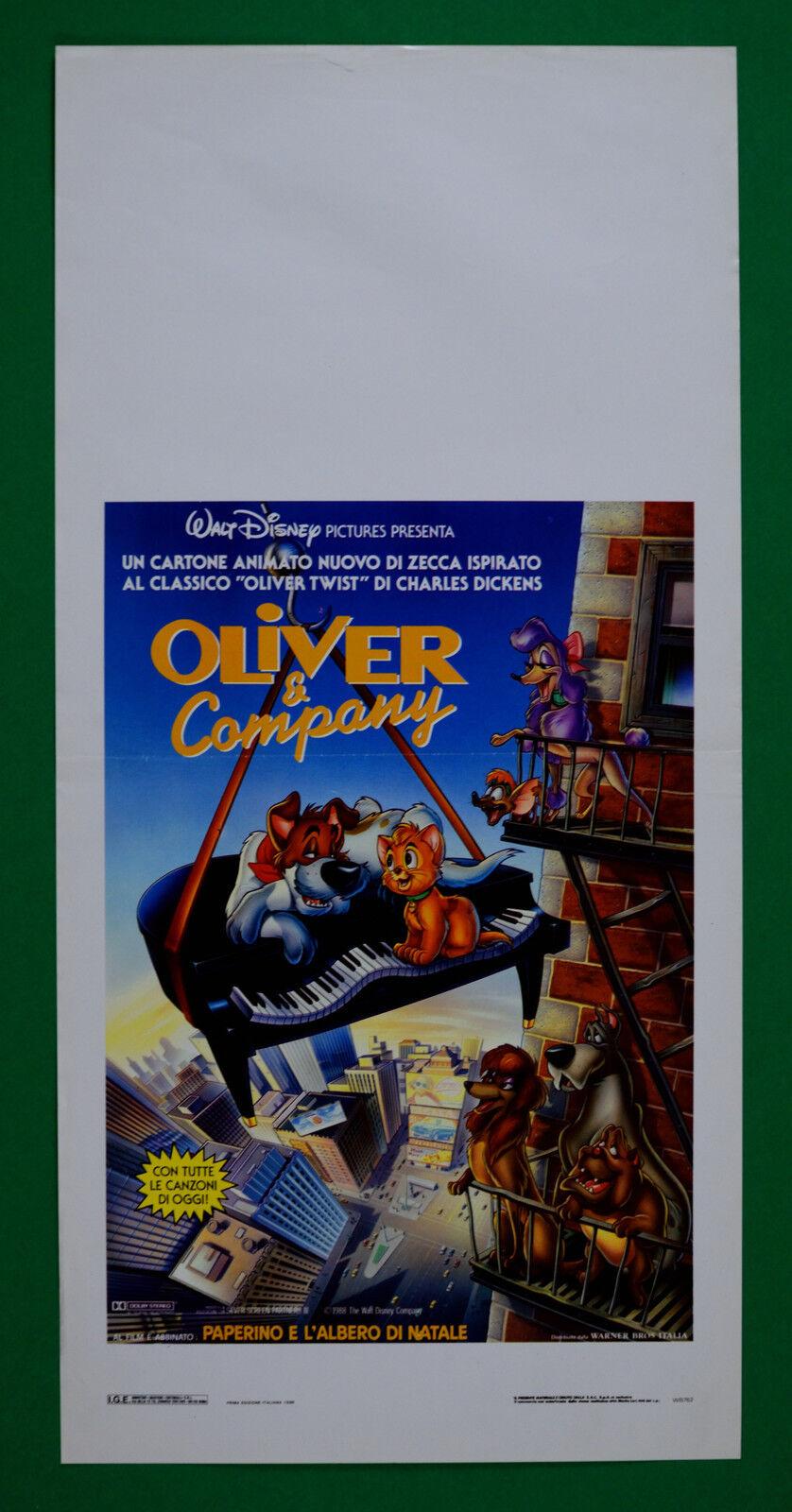 L39 locandina oliver e company walt disney animazione cartone