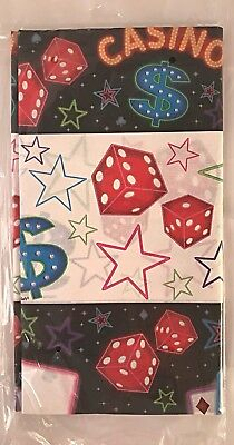 Casino Night Card Suits Jackpot Dice Poker Prom Theme Party Paper Tablecover - Poker Night Theme