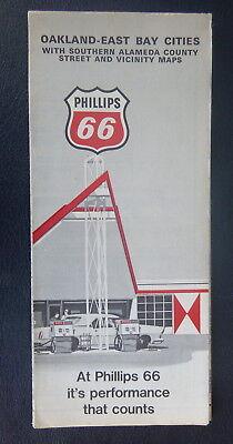 1971 Oakland-East Bay street map Phillips 66 oil gas California Hayward (Bay Street Oakland)