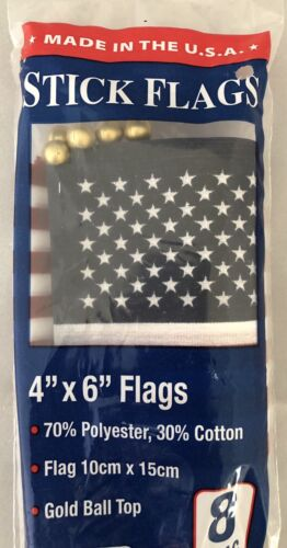 "American Stick Fabric Flags Annin 4"" x 6"" Hand Held Mini Gol"