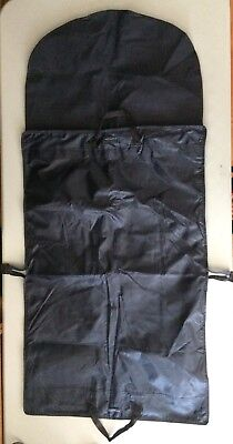 Suitsupply Garment Bag Navy Blue Zip Folding Pockets Travel Storage Suit Supply