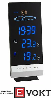 TFA Lumax 35.1093 Wireless Radio Weather Station Clock Genuine New Best Gift
