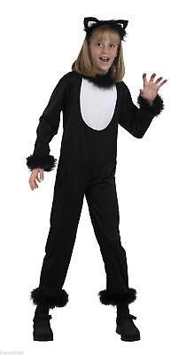 White Girl And Black Guy Halloween Costumes (Girls Kids Black and White Kitty Cat Halloween Fancy Dress Ears Costume)