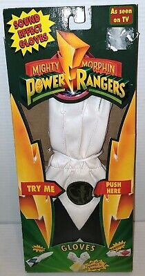 Power Ranger Costumes For Halloween ((NEW) POWER RANGERS Bandai SOUND EFFECT GLOVES ZACK FOR HALLOWEEN OUTFIT)