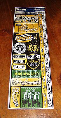 Reminisce Die Cut Sticker Sheet ~ Signature Series.   Marching Band/Music Die Cut Sticker Sheet