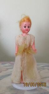 """VINTAGE MADE IN HONG KONG 7 ½"""" STANDING DOLL DRESSED IN WOOLLEN Kambah Tuggeranong Preview"""
