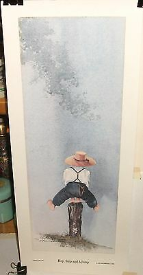 "STEVE POLOMCHAK ""HOP SKIP AND A JUMP"" LIMITED EDITION HAND SIGNED LITHOGRAPH  on Rummage"