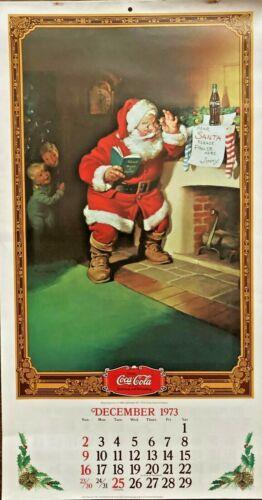 1973/74 Coca Cola Calendar Featuring Santa Claus & 1920