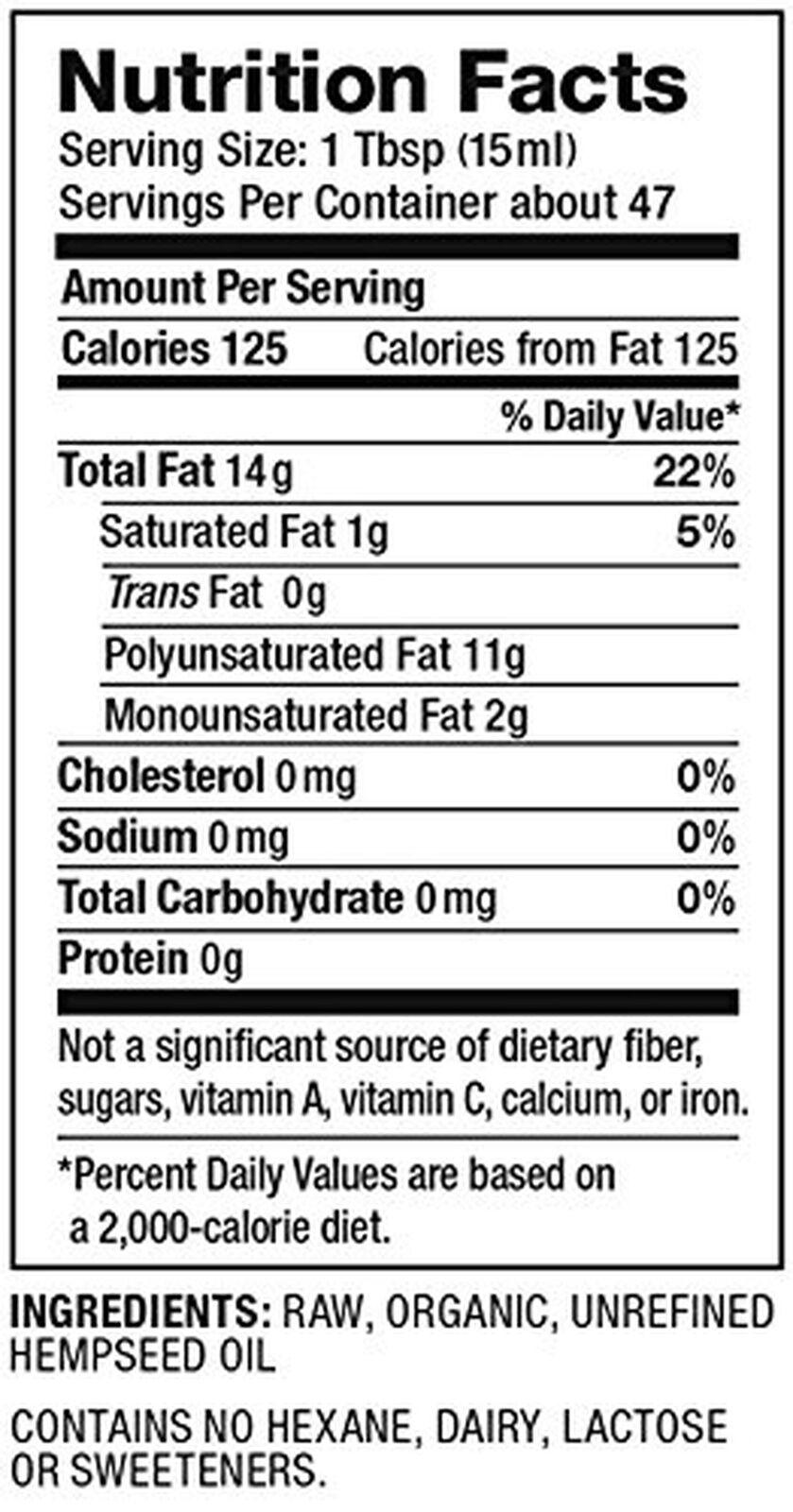 Nutiva Organic Hemp Oil 24 Ounce 2