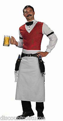 WILD WESTERN BARTENDER OLD WEST SALOON ADULT HALLOWEEN COSTUME SIZE - Male Bartender Halloween Costumes