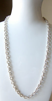 1976 Excellent Vintage  Heavy 41g Ornate Sterling Silver Chain Necklace