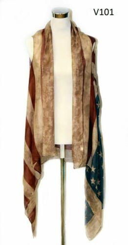 American Flag Vest, scarf vest,cover up.