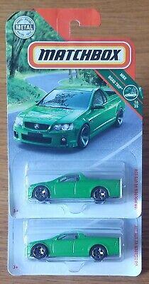 MATCHBOX:  2008 HOLDEN VE UTE SSV (2) CAR LOT