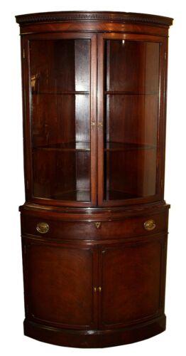 Vintage Hepplewhite Style Mahogany Corner Cabinet