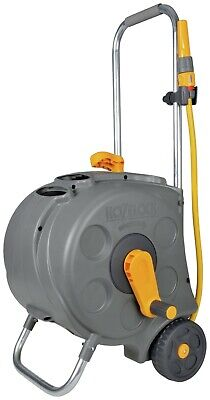 Hozelock Compact Wheeled Hose Cart with 30m Garden Hose Pipe Fitting -  2416