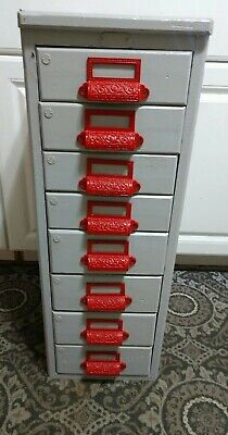 Vintage 8 Drawer Machinists File Cabinet Or Library Watchmaker Etc.........